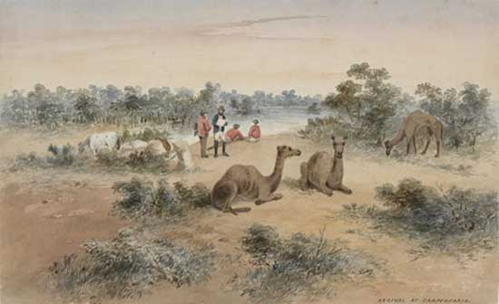 Arrival at Carpentaria, c.1862, by S.T. Gill, Watercolour
