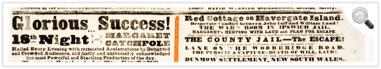 View an advertising broadside promoting the play at the Victoria Theatre