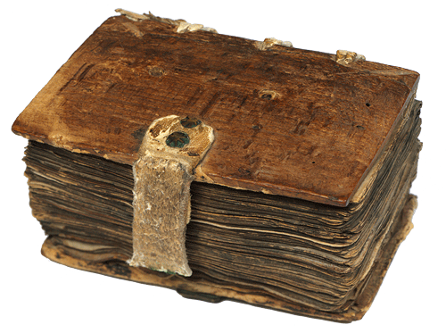 Manuscript book of statutes containing Magna Carta and 20 other statutes in Latin or French