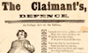 The Claimant's, defence, printed by H. Such, 177, Union Street, Borough