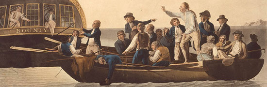 Painting of the Mutiny on the Bounty