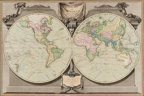A New map of the world, with Captain Cook's tracks..by W. Palmer