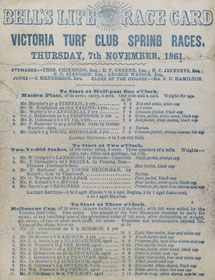 Melbourne Cup Race Card