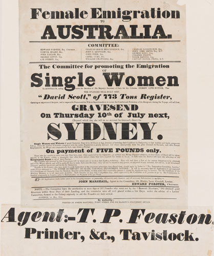Female emigration | State Library of New South Wales