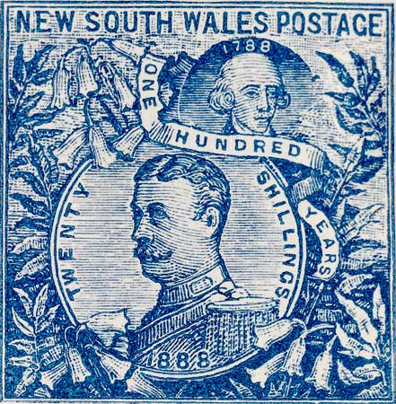 Stamp from the H. L. White stamp collection