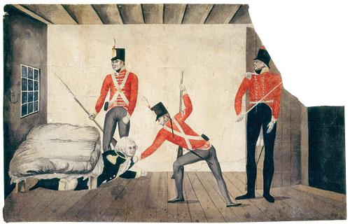 The arrest of Governor Bligh, 1808