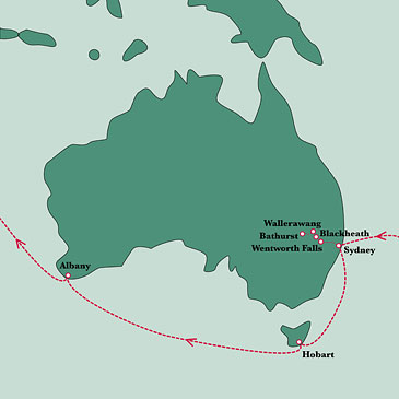 Map of Darwins journey in Australia  State Library of New South