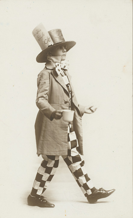 Patrick White Dressed as the Mad Hatter for a Charity Ball, 1920
