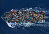 Operation Mare Nostrum - Boat refugees rescued by the Italian Navy