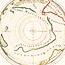 Hemisphere meridional ou antarctique du globe terrestre vuen convexe l'oeil estant posé au Zenith et a distance infinie du plan de projection